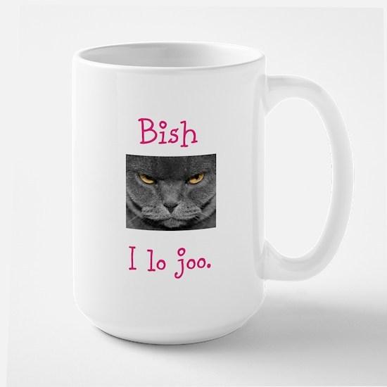Lo Joo Disapproving Cat Large Mug