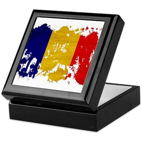 Chad Flag Keepsake Box