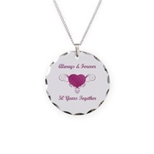 50th Anniversary Heart Necklace
