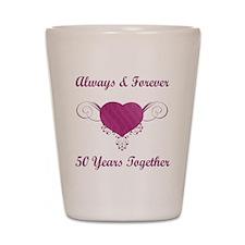 50th Anniversary Heart Shot Glass