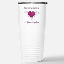 50th Anniversary Heart Travel Mug