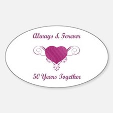 50th Anniversary Heart Decal