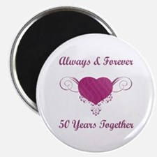 "50th Anniversary Heart 2.25"" Magnet (10 pack)"