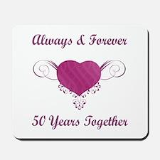 50th Anniversary Heart Mousepad