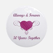 50th Anniversary Heart Ornament (Round)