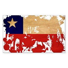 Chile Flag Sticker (Rectangle 50 pk)