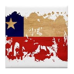 Chile Flag Tile Coaster