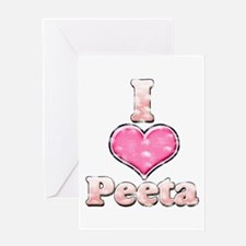 Vintage I Heart Peeta 1 Greeting Card