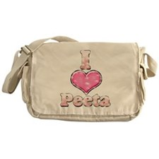 Vintage I Heart Peeta 1 Messenger Bag