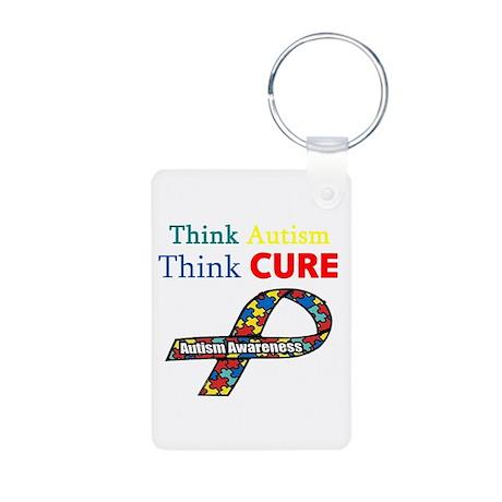 Autism Awareness Aluminum Photo Keychain