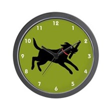 Black Labrador Retriever Wall Clock