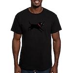 Black Labrador Retriever Men's Fitted T-Shirt (dar