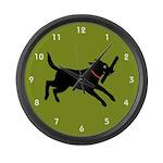 Black Labrador Retriever Large Wall Clock