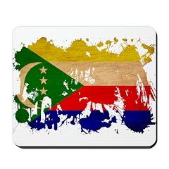 Comoros Flag Mousepad