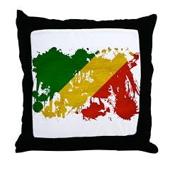 Congo Republic Flag Throw Pillow