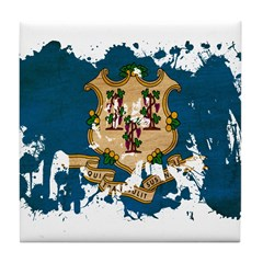 Connecticut Flag Tile Coaster