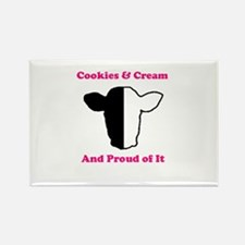 Cookies and Cream Biracial Pride Rectangle Magnet