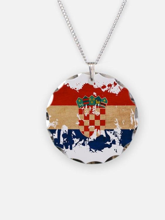 Croatia Flag Necklace