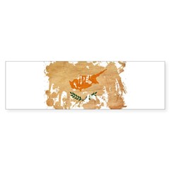 Cyprus Flag Sticker (Bumper 50 pk)
