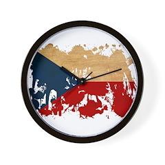 Czech Republic Flag Wall Clock