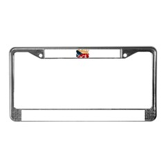 Czech Republic Flag License Plate Frame