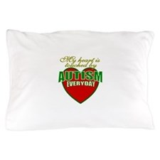 Autism touches my heart Pillow Case