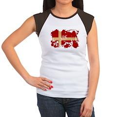 Denmark Flag Women's Cap Sleeve T-Shirt
