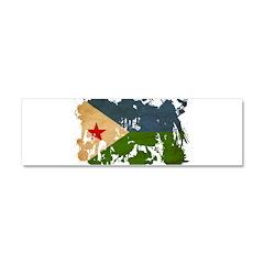 Djibouti Flag Car Magnet 10 x 3