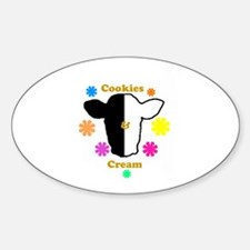 Cookies and Cream Biracial Pride Oval Decal