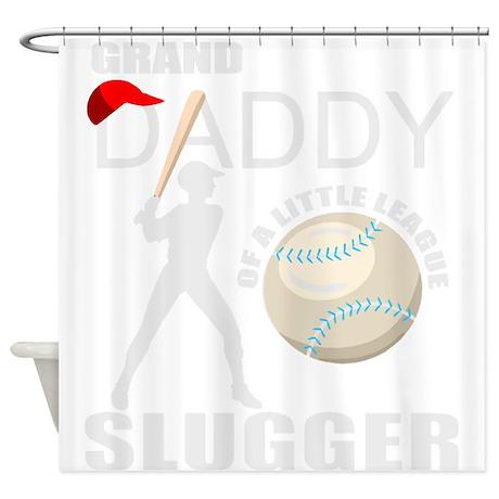 Baseball slugger's grandpa Shower Curtain