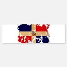 Dominican Republic Flag Bumper Bumper Sticker