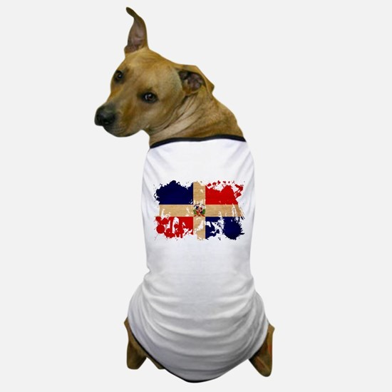 Dominican Republic Flag Dog T-Shirt