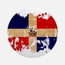 Dominican Republic Flag Ornament (Round)