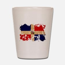 Dominican Republic Flag Shot Glass
