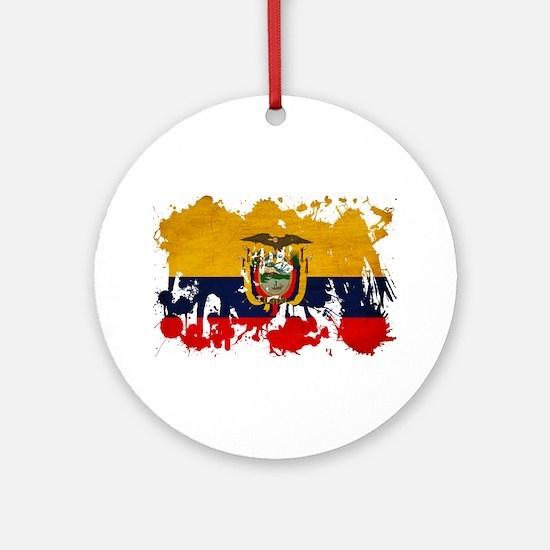 Ecuador Flag Ornament (Round)