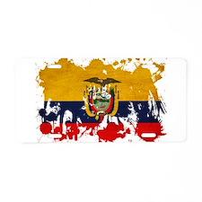 Ecuador Flag Aluminum License Plate