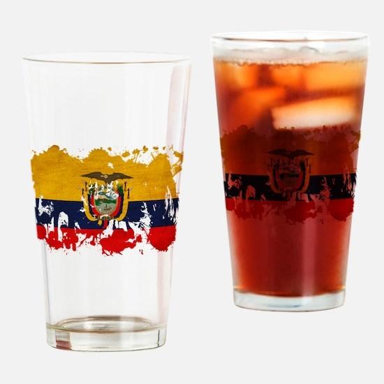 Ecuador Flag Drinking Glass
