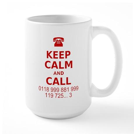 Keep Calm and Call Large Mug