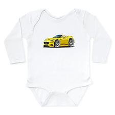 California Yellow Convert Long Sleeve Infant Bodys