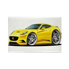 California Yellow Coupe Rectangle Magnet