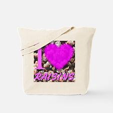 I (Heart) Raisins Tote Bag