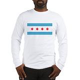 Chicago flag Long Sleeve T-shirts