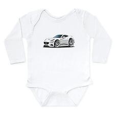 California White Coupe Long Sleeve Infant Bodysuit