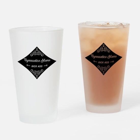 Gymnastics Moms Kick Ass Drinking Glass