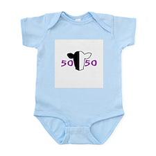 50/50 Purple Biracial Pride Infant Creeper
