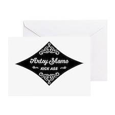 Artsy Moms Kick Ass Greeting Card