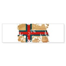 Faroe Islands Flag Car Sticker