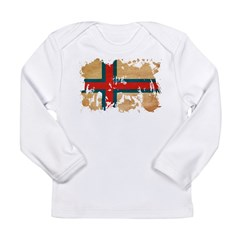 Faroe Islands Flag Long Sleeve Infant T-Shirt