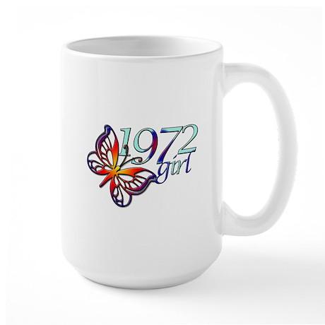 40th Birthday Gifts, 1972 Large Mug