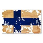 Finland Flag Sticker (Rectangle 10 pk)